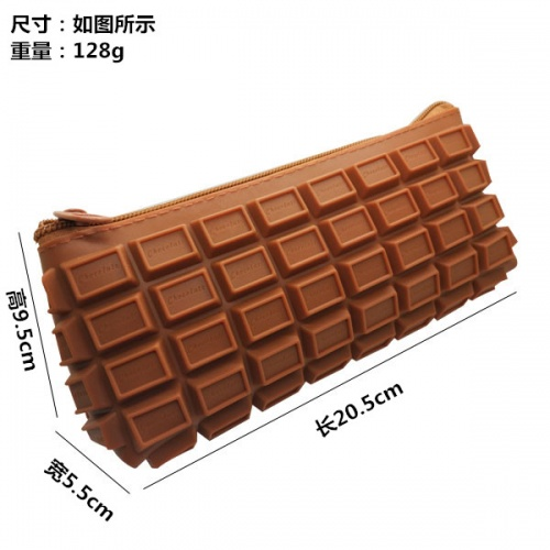 Silicone chocolate Cosmetic bag